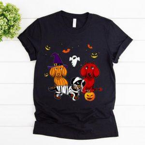 Premium Dachshund Doxie Witch Devil Pumpkin Halloween shirt