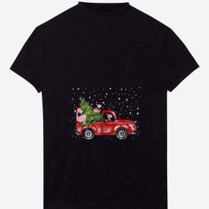 Premium Flamingo Truck Christmas Tree shirt