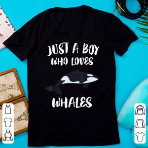 Premium Just A Boy Who Loves Whales Killer Whale Orca shirt
