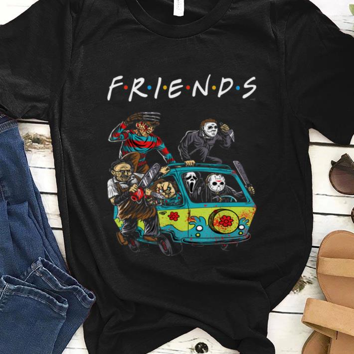 Premium Michael Myers Friends In Bus With Horror Character shirt 1 - Premium Michael Myers Friends In Bus With Horror Character shirt