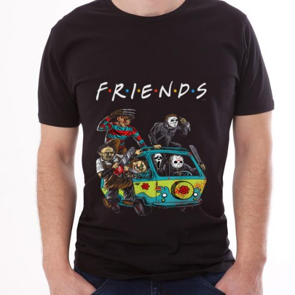 Premium Michael Myers Friends In Bus With Horror Character shirt
