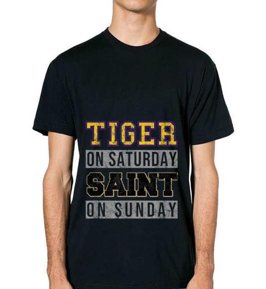 Premium Tiger On Saturday Saint On Sunday shirt