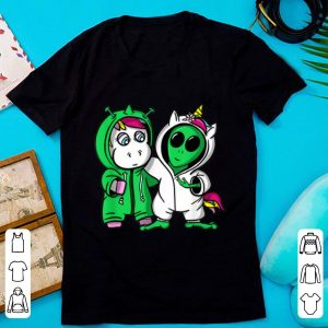Premium Unicorn Alien Halloween Costume Friends shirt