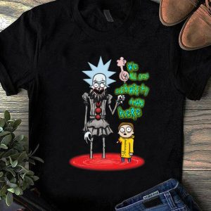 Premium We All Set Schwifty Down Here Rick and Morty Pennywise shirt