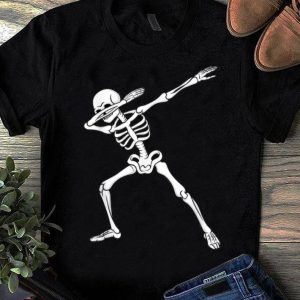 Pretty Dabbing Skeleton Kids Boys Halloween Dab Dance shirt