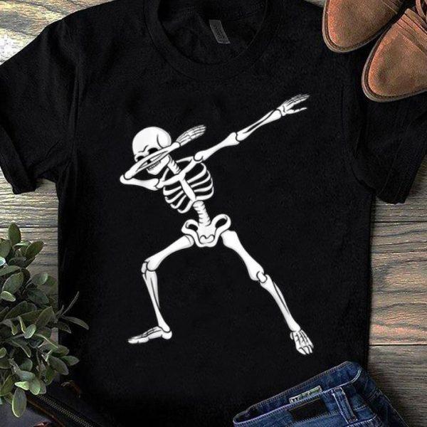 Pretty Dabbing Skeleton Kids Boys Halloween Dab Dance shirt