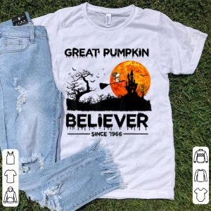 Pretty Great Pumpkin Believer Since 1966 Snoopy Witch shirt