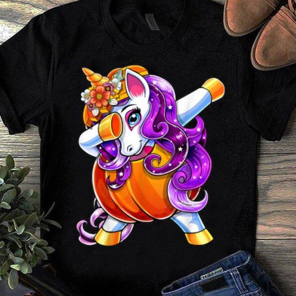Pretty Halloween Dabbing Unicorn Pumpkin Jack-O-Lantern Girls Gift shirt