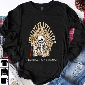 Pretty Skeleton Bones Throne Halloween Is Coming shirt