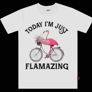 Pretty Today I'm Just Flamazing Flamingo Bicycle shirt