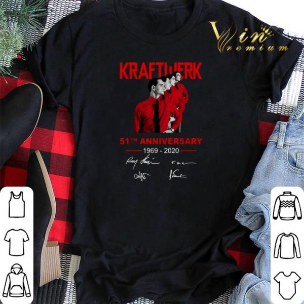 Signatures Kraftwerk 51th anniversary 1969-2020 shirt