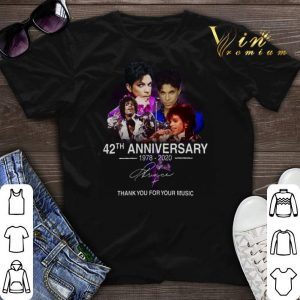 Thank you for your music 42th anniversary 1978-2020 Prince shirt