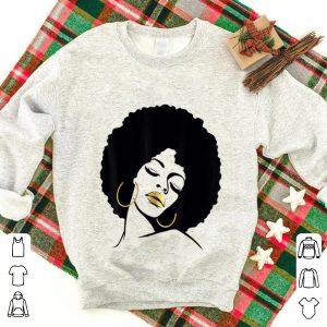 Top Afro Diva Black Girl Magic Gold Lips shirt