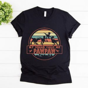Top Vintage Dinosaur T-Rex My Squad Calls Me Pawpaw shirt