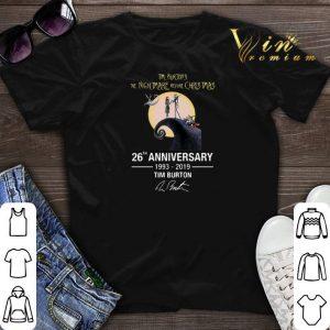 Anniversary Tim Burton's The Nightmare Before Christmas 26th shirt