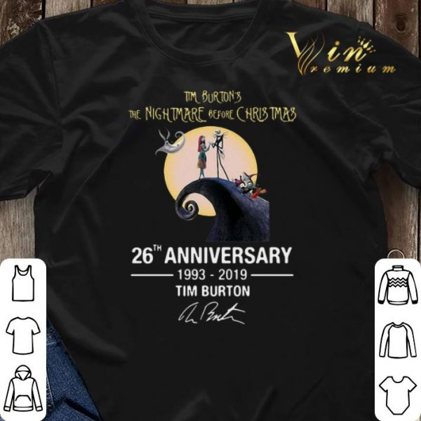 Anniversary Tim Burton's The Nightmare Before Christmas 26th shirt