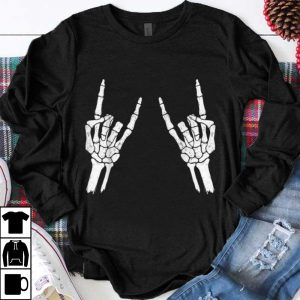 Awesome Halloween Skeleton Rocker Graphic shirt