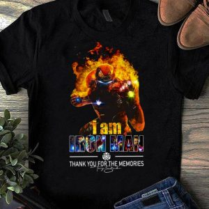 Awesome I Am Iron Man Thank You For The Memories Avengers Endgame shirt