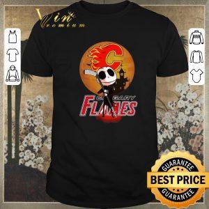 Awesome Jack Skellington Holding Hockey Stick Calgary Flames shirt sweater