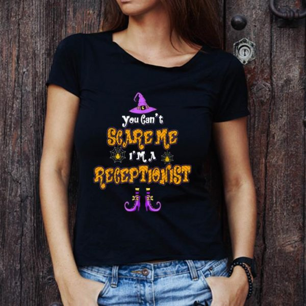 Awesome You Can't Scare Me I'm Receptionist Halloween shirt
