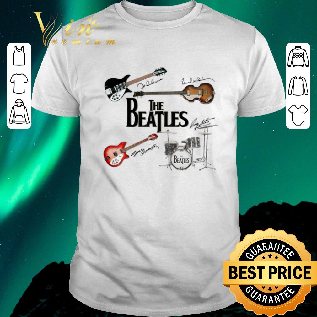 Funny Signatures The Beatles Guitars Instrument Shirt