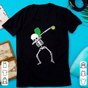 Hot Dabbing Skeleton Halloween Pickleball shirt