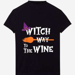 Hot Witch Way To The Wine Funny Halloween Drinking Top Women Men shirt