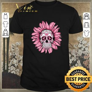 Nice Breast Cancer Awareness Sugar Skull Sunflower shirt sweater