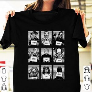 Nice Horror Characters movie timeline halloween shirt
