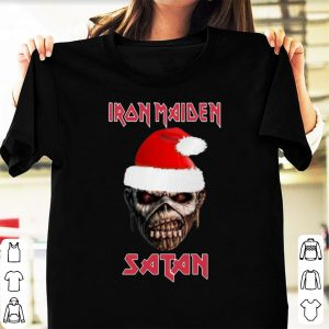 Nice Iron Maiden Satan Christmas shirt