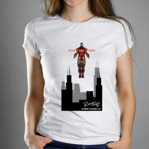 Nice Stark industries Iron Man Robert Downey Jr Signature shirt