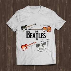 Nice The Beatles Band Guitar And Drum Signatures shirt