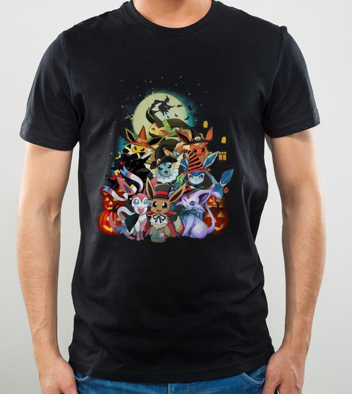 Official Halloween Pokemon Eevee Witch shirt 4 - Official Halloween Pokemon Eevee Witch shirt