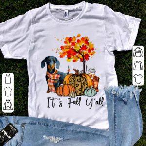 Official It's Fall Y'all Dachshund Autumn Dog Pumpkin shirt