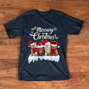 Official Meowy Christmas Kitten Kitty Xmas Cat Lovers shirt
