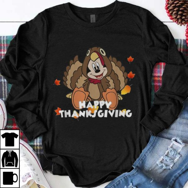 Official Mickey Mouse Turkey Happy Thanksgiving Day shirt