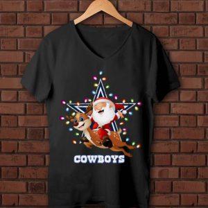 Official Santa Claus Riding Reindeer Dallas Cowboys shirt