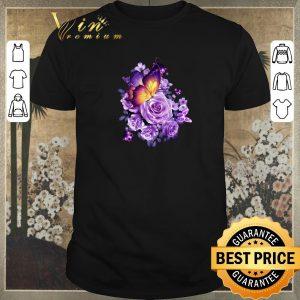 Original Butterfly purple flower shirt sweater