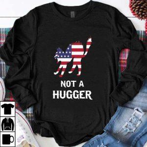 Original Cat Not A Hugger American flag shirt