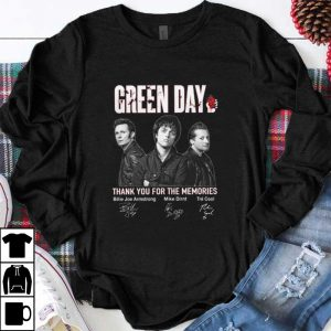Original Green Day Signatures Thank You For The Memories shirt