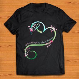 Original Heart Ribbon Metastatic Breast Cancer Awareness shirt