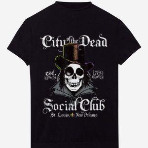 Original New Orleans Voodoo Doctor Goth Skull Halloween shirt