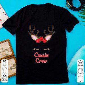 Premium Christmas Cousin Crew Reindeer Face Cute Matching Pajama shirt
