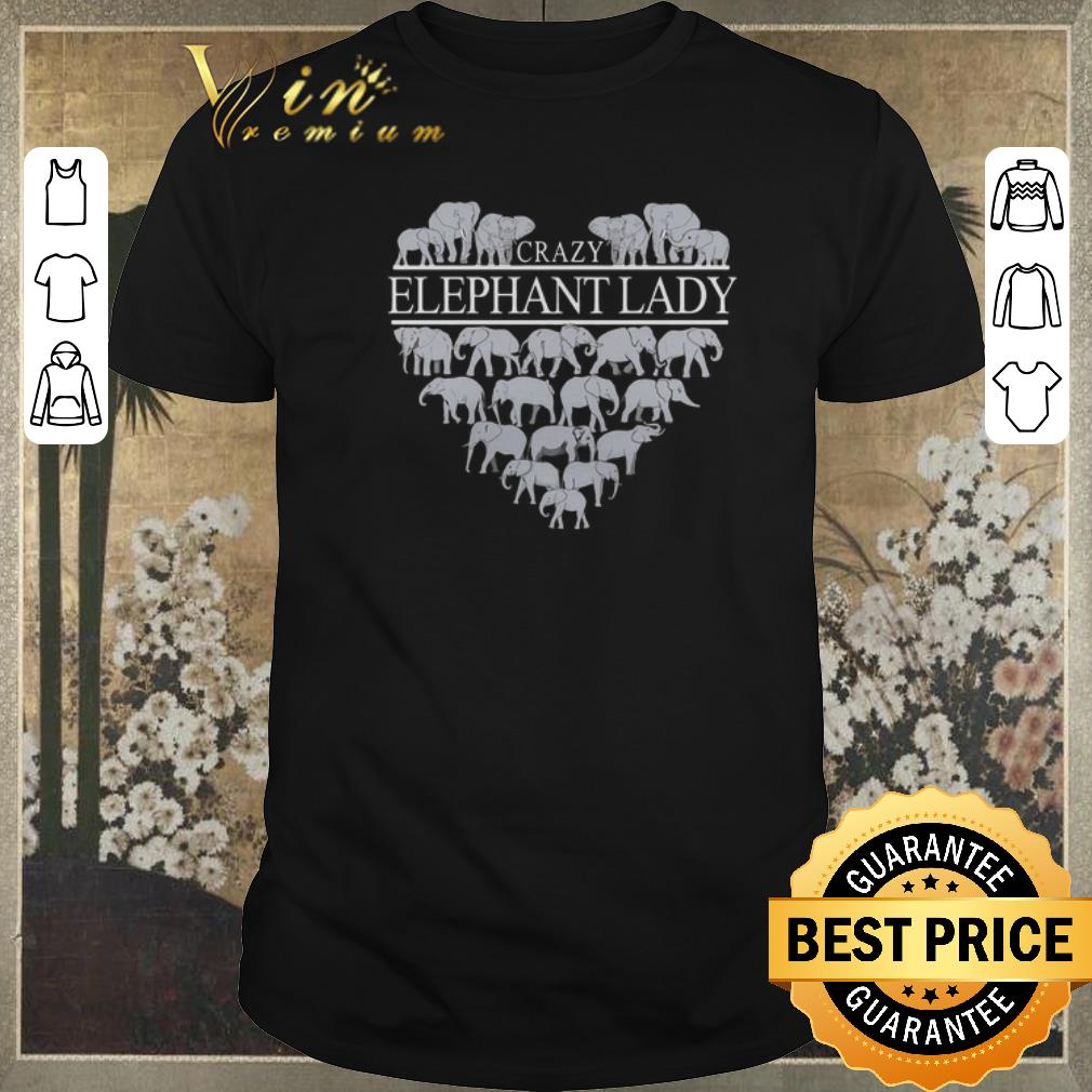 Premium Crazy Elephant Lady Heart Shirt Sweater