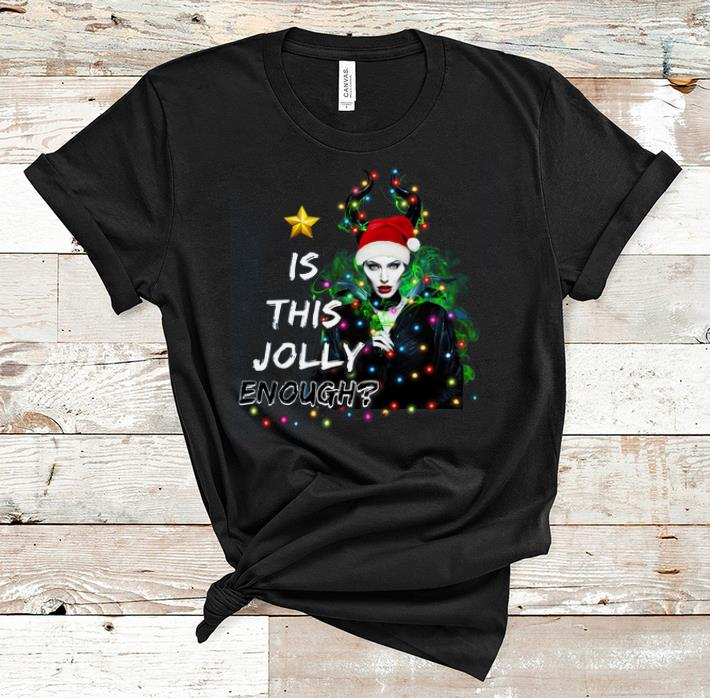 Premium Is This Jolly Enough Santa Maleficent Shirt