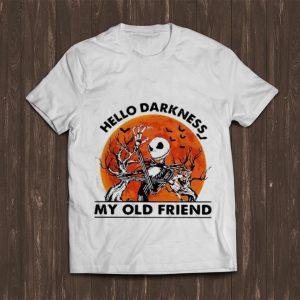 Premium Jack Skellington hello darkness my old friend sunset shirt