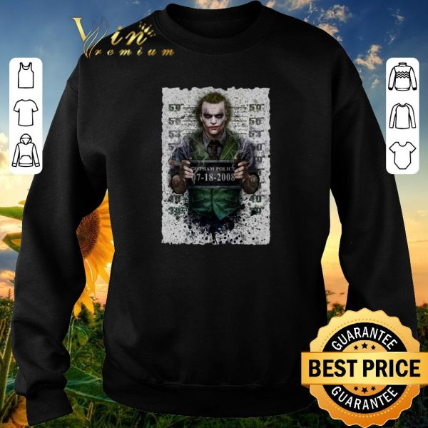 Premium Joker Gotham Police 07-18-2008 shirt sweater
