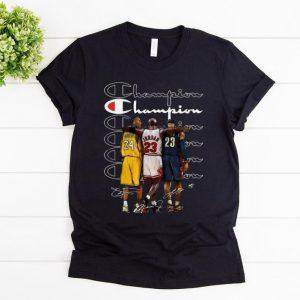 Premium Kobe Bryant Michael Jordan and LeBron James Champion signatures shirt