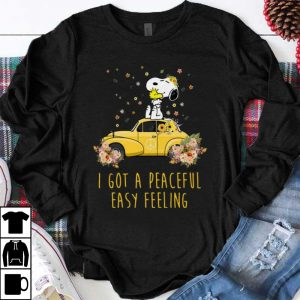 Premium Peace Volkswagen Beetle Snoopy I Got A Peaceful Easy Feeling shirt