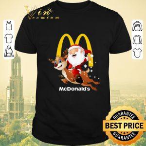 Premium Santa Claus riding reindeer McDonald's shirt sweater